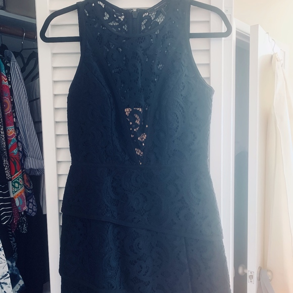 BCBGMaxAzria Dresses & Skirts - BCBG Black Lace Tier Dress